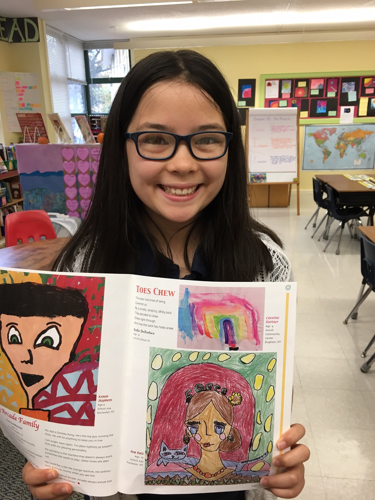"Sock It To 'Em: Grade 5 Student Publishes Poem ""Toes Chew"""