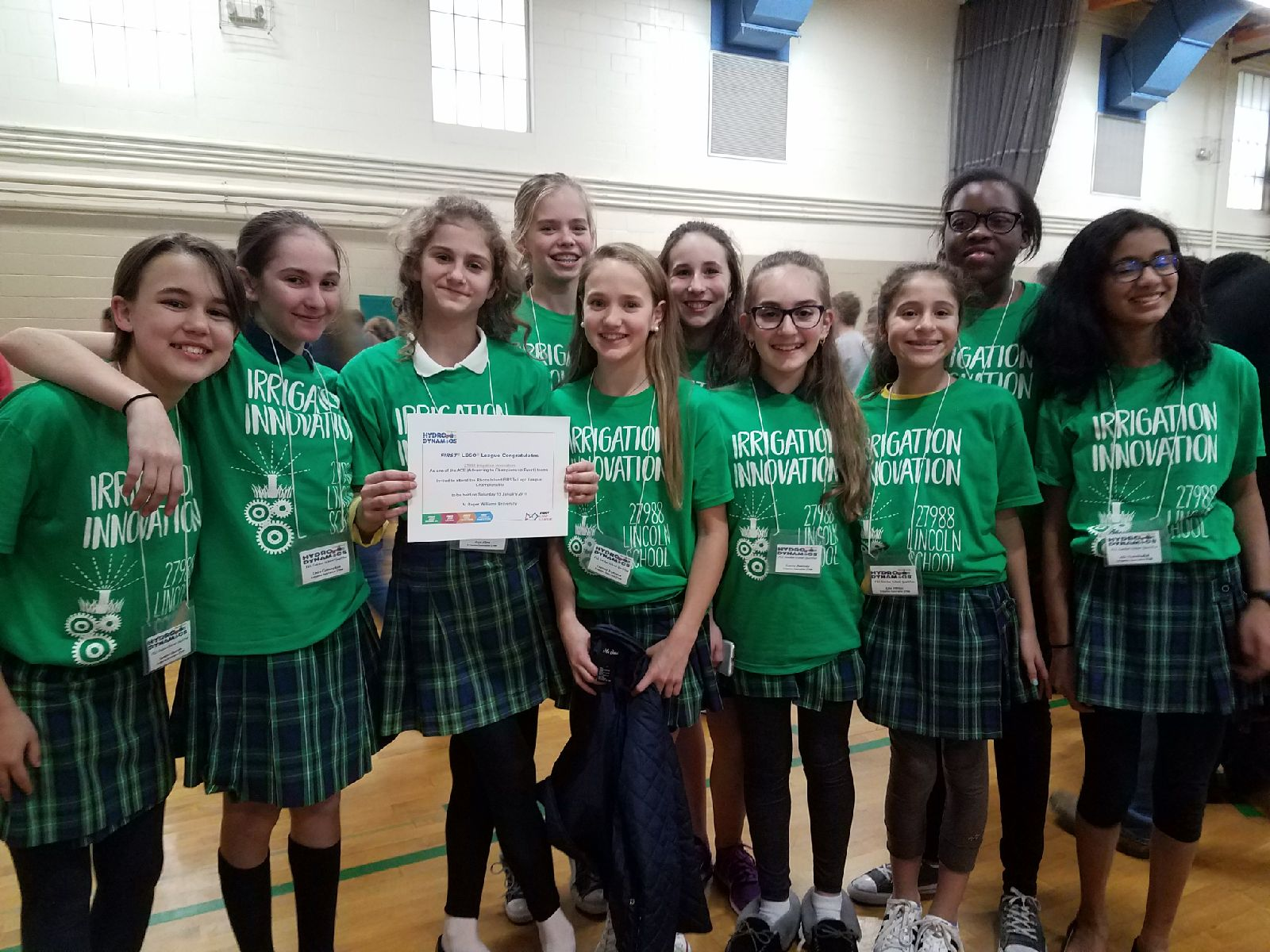 Lincoln Middle School Robotics Team Advances to State Finals
