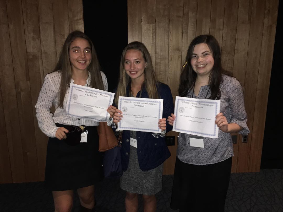 Lincoln Delegates Take Top Prizes at Wheeler Model United Nations Conference