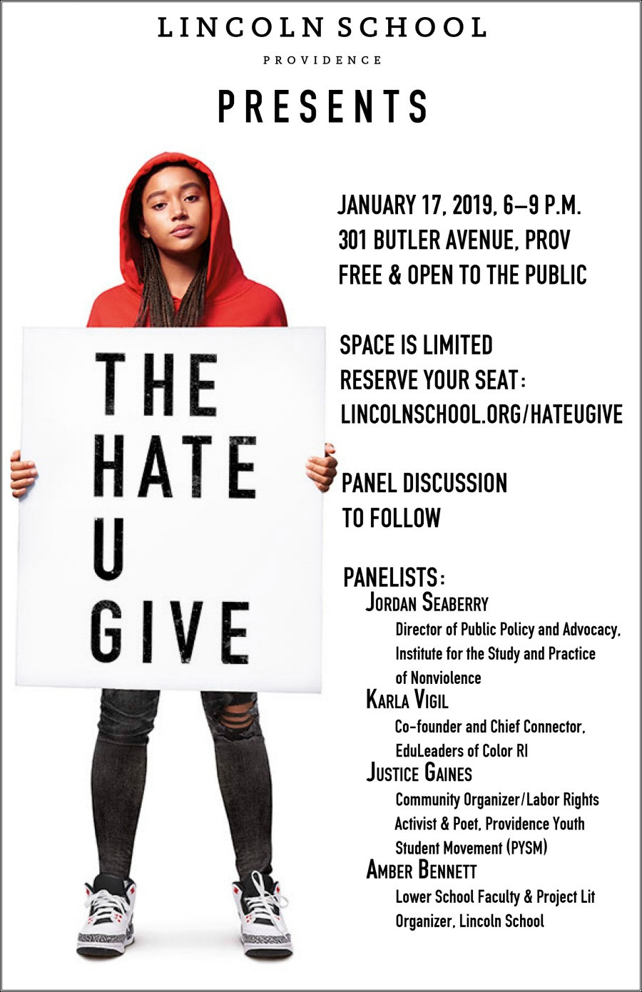The Hate U Give Movie Screening | January 17 | 6 p.m. | Free and open to the public