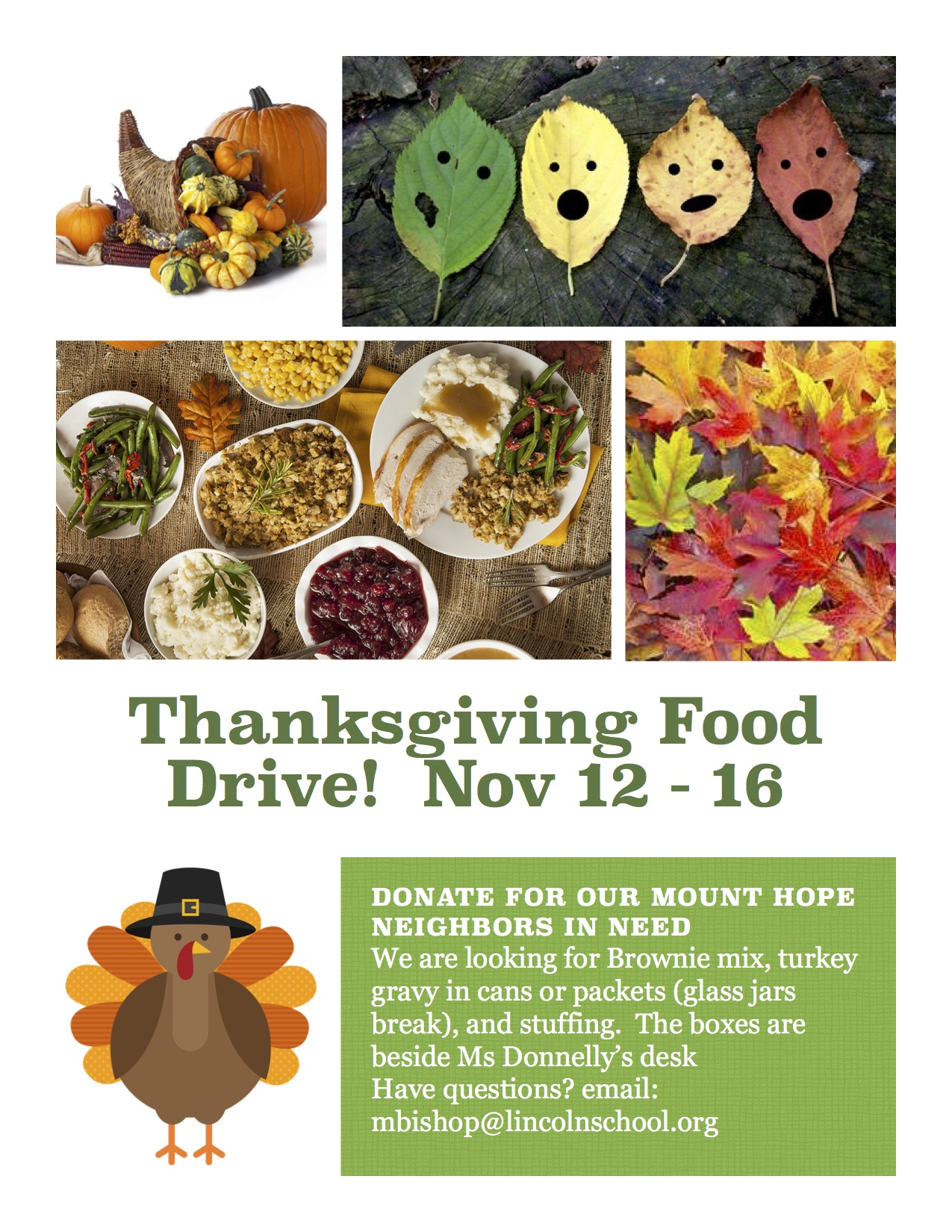 Thanksgiving Food Drive | November 12–16