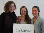 Corlis Gross '06, Anna Ruth Coon '06, and Caroline Canning '06