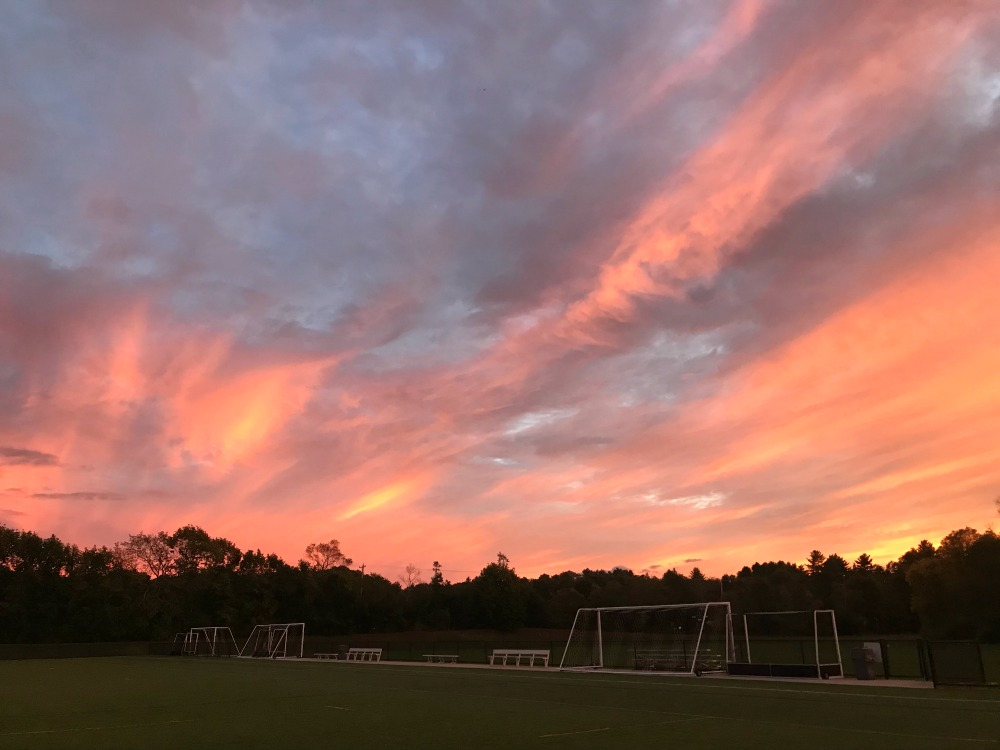 Sunset, Soccer, and Cross Country at Faxon Farm