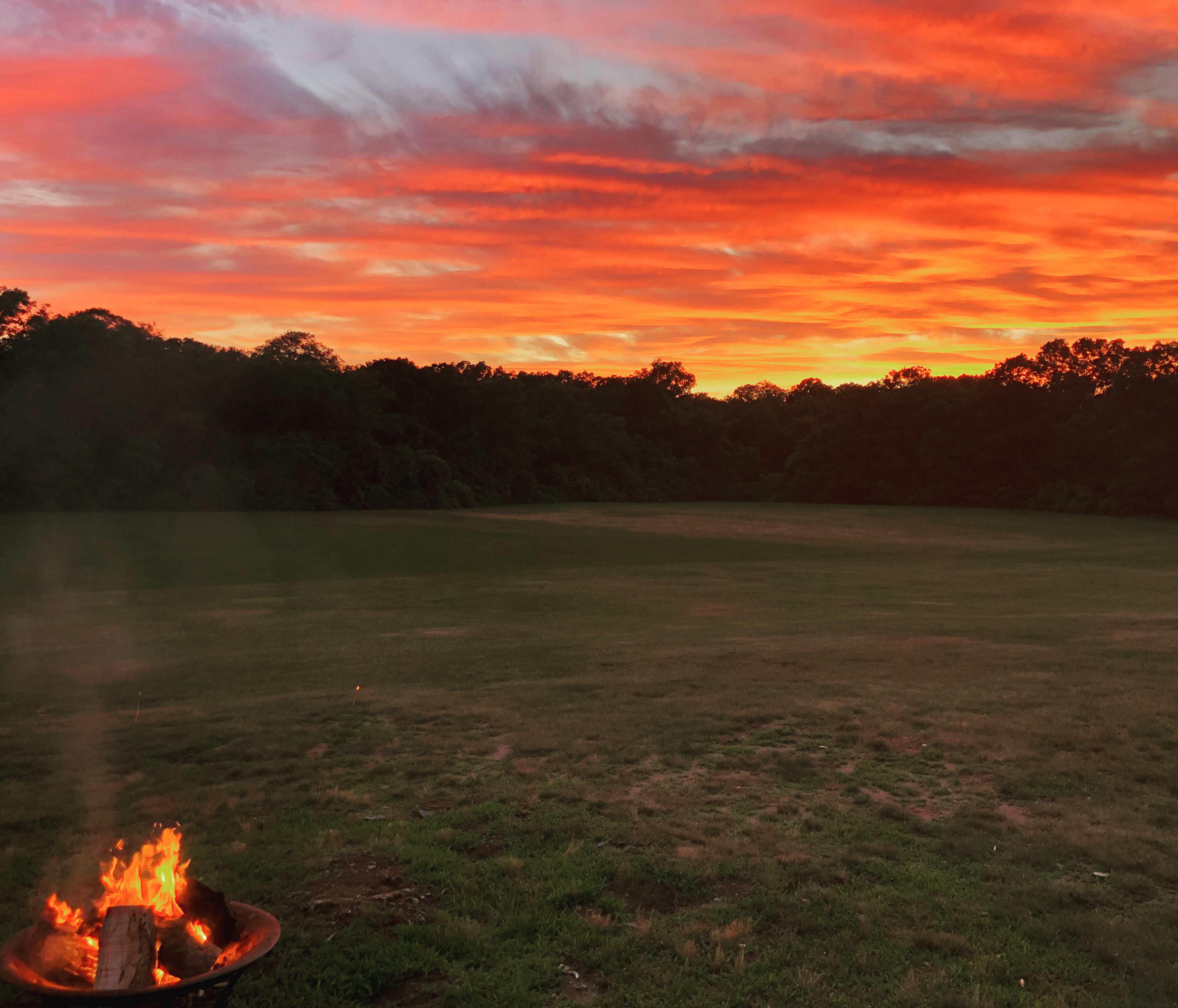 Summertime sunset at Faxon Farm