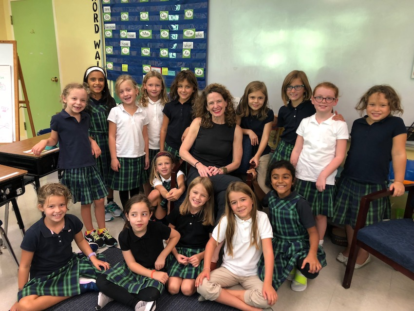 All Smiles: Head of School Suzanne Fogarty Visits Grade 2!